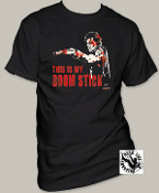 "MOVIE TEE SHIRT - ARMY OF DARKNESS ""BLOODY BOOM STICK"""