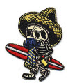 EMBROIDERED PATCH - KRUSE EL BORRACHO SURFER PATCH