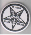 45 GRAVE - BLACK CROSS BUTTON / BOTTLE OPENER / KEY CHAIN /