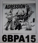 AGRESSION - BAND SKELETON BACK PATCH