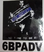 ADVERTS - NO TIME TO BE BACK PATCH
