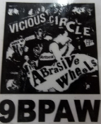 ABRASIVE WHEEL - VICIOUS CIRCLE BACK PATCH