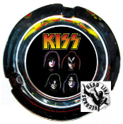KISS - 4 FACES GLASS ASHTRAY