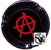 "GLASS ASHTRAY - ""A"" ANARCHY"