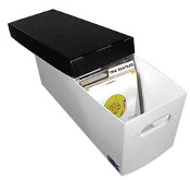 "7"" RECORD STORAGE BOX PLASTIC CORRUGATED"