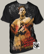 "MOVIE TEE SHIRT - TEXAS CHAINSAW M ""CHAINSAW"" FULL PRINT"