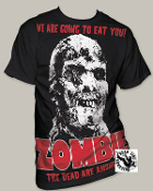 "MOVIE TEE SHIRT - ZOMBIE ""ALL OVER ZOMBIE"" FULL PRINT"
