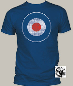POP CULTURE TEE SHIRT - MOD TARGET DISTRESSED