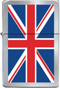 LIGHTER REFILL METAL - UK FLAG