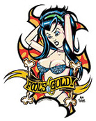 ALAN FORBES STICKER - FOOLS GOLD
