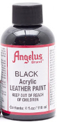 LEATHER PAINT BLACK ACRYLIC