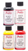 PACK OF 4 ACRYLIC LEATHER PAINT