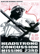 HEADLINE FLYER - HEADSTRONG / CONCUSSION (COLOR)