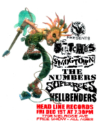 HEADLINE FLYER - STITCHES / SMOGTOWN / SUPERBEES / HELLBENDERS
