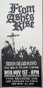 HEADLINE FLYER - FROM ASHES RISE / BORN DEAD ICONS