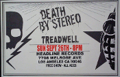 HEADLINE FLYER - DEATH BY STEREO (COLOR)