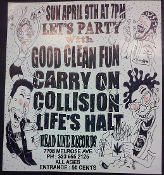 HEADLINE FLYER - GOOD CLEAN FUN / CARRY ON / COLLISION / LIFE'S