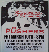 HEADLINE FLYER - SMOGTOWN / PUSHERS (COLOR)