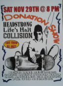 HEADLINE FLYER - HEADSTRONG / LIFE'S HALT / COLLISION (COLOR)