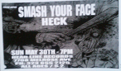 HEADLINE FLYER - SMASH YOUR FACE / HECK