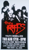 HEADLINE FLYER - THE RIFFS / YOUTH REBELLION (COLOR)
