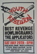 HEADLINE FLYER - YOUTH REBELLION / THE APPLICATORS (COLOR)