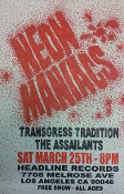 HEADLINE FLYER - NEON MANIACS / THE ASSAILANTS (COLOR)