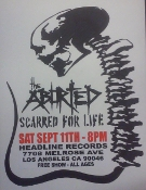 HEADLINE FLYER - ABORTED / SCARRED FOR LIFE (COLOR)