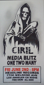 HEADLINE FLYER - CIRIL / MEDIA BLITZ / ONE TWO MANY (COLOR)