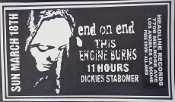 HEADLINE FLYER - END ON END / THIS ENGINE BURNS / 11 HOURS