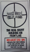HEADLINE FLYER - THE REAL ENEMY / HOLDING ON / FRONTLINE (COLOR)