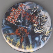 IRON MAIDEN - THE NUMBER OF THE BEAST BUTTON / BOTTLE OPENER / K