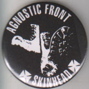 AGNOSTIC FRONT - SKINHEAD BUTTON / BOTTLE OPENER / KEY CHAIN / M