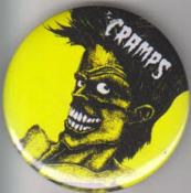 CRAMPS - BAD MUSIC FOR BAD PEOPLE BUTTON / BOTTLE OPENER / KEY C