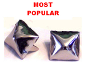 LARGE SILVER PYRAMID STUDS (PACK OF 100)