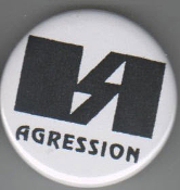AGRESSION - LOGO BUTTON / BOTTLE OPENER / KEY CHAIN / MAGNET