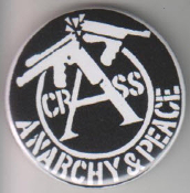 CRASS - ANARCHY & PEACE BUTTON / BOTTLE OPENER / KEY CHAIN