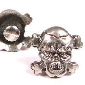 TOXIC SKULL & CROSSBONES W/ SCREW (PACK OF 5) - FREE SHIPPING