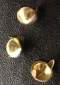 SMALL GOLD CONES STUDS (PACK OF 20) - FREE SHIPPING