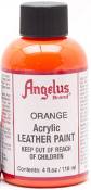 LEATHER PAINT ORANGE ACRYLIC