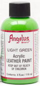 LEATHER PAINT LIGHT GREEN ACRYLIC