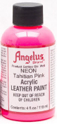 LEATHER PAINT NEON TAHITIAN PINK ACRYLIC