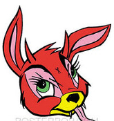 KOZIK STICKER - EVIL RABBIT STICKER