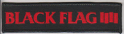 BLACK FLAG - RECTANGLE LOGO PATCH