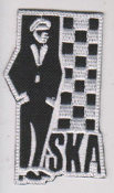 EMBROIDERED PATCH - SKA MAN PATCH