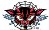 ALAN FORBES STICKER - EVIL CAT