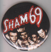SHAM 69 - BAND PICT BUTTON / BOTTLE OPENER / KEY CHAIN / MAGNET
