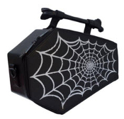 COFFIN PURSE BAG - SPIDERWEB FOIL