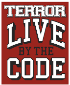 TERROR - LIVE BY THE CODE STICKER