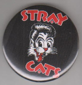 STRAY CATS - LOGO BUTTON / BOTTLE OPENER / KEY CHAIN